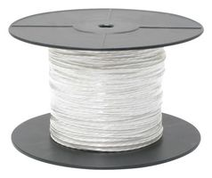 Mil Spec. White Jacket 24 AWG 3 Conductor Shielded Cable - per Foot